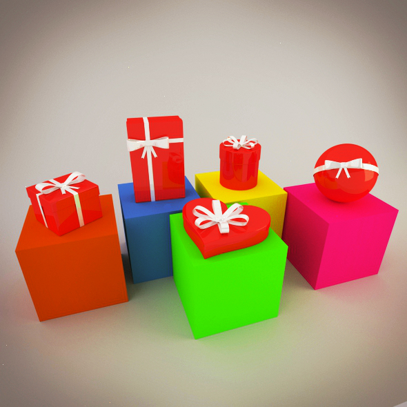 3DOcean Christmas Gift Boxes 3629457