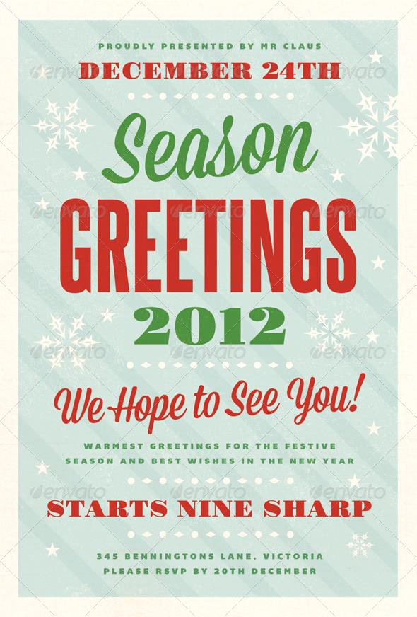 Festive - Christmas Flyer Template - Holidays Events