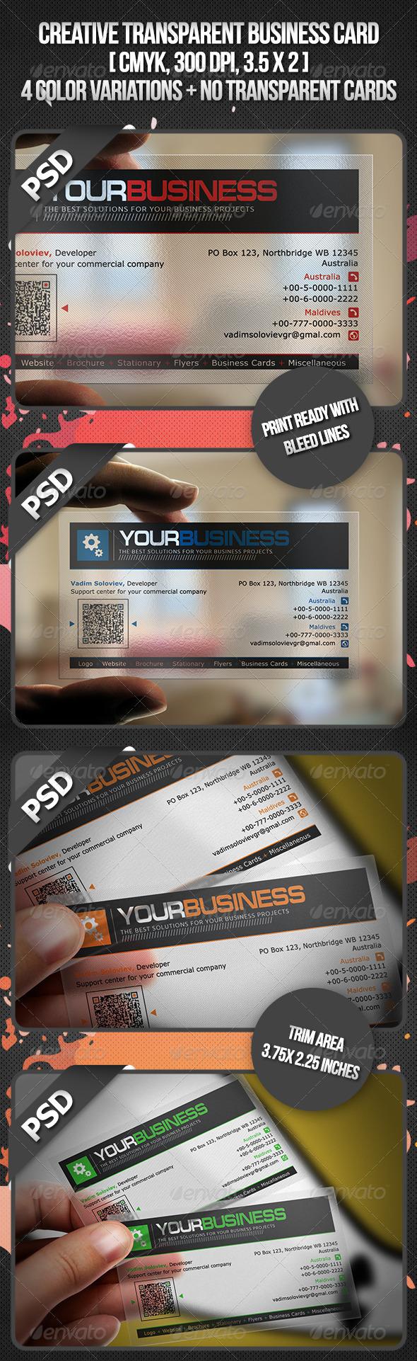 Creative Transparent Business Card - Creative Business Cards