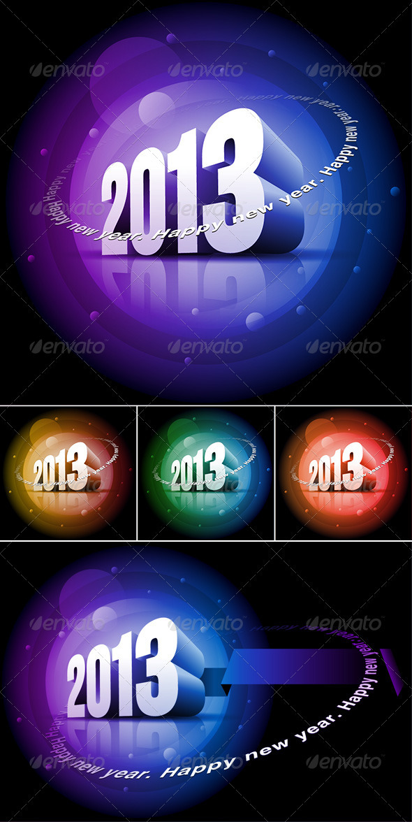 GraphicRiver 3D 2013 Happy New Year 3560874