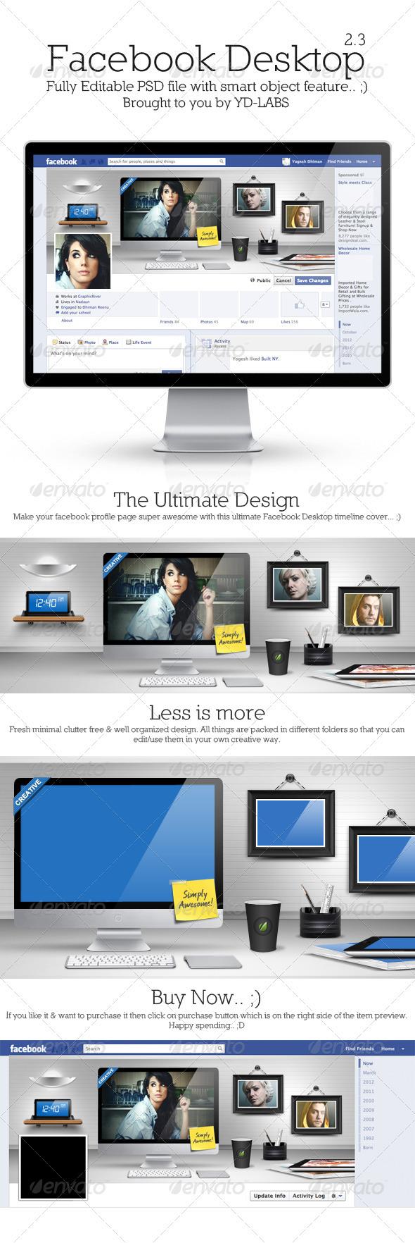 GraphicRiver FB Desktop 2.3 3636008