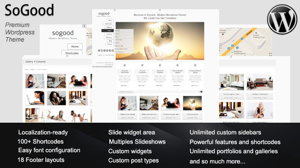 ThemeForest SoGood- Modern Wordpress Theme 2717817