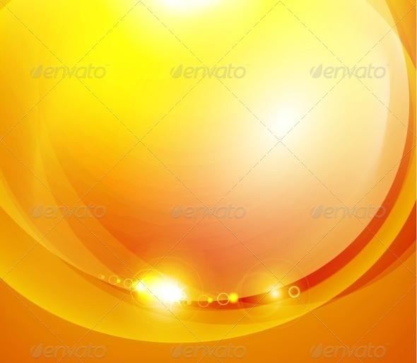GraphicRiver Sunshine Orange Background 3636061