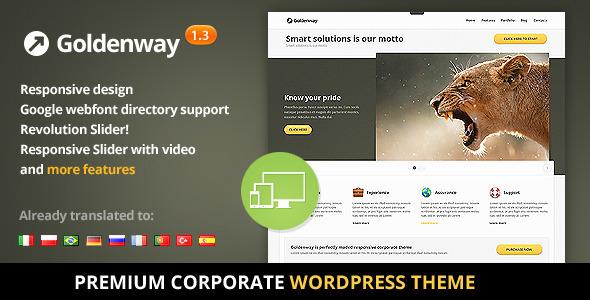 ThemeForest Goldenway Premium Wordpress Theme 3127972