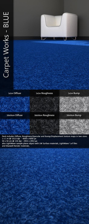 3DOcean AJD Carpet Works BLUE 3636465