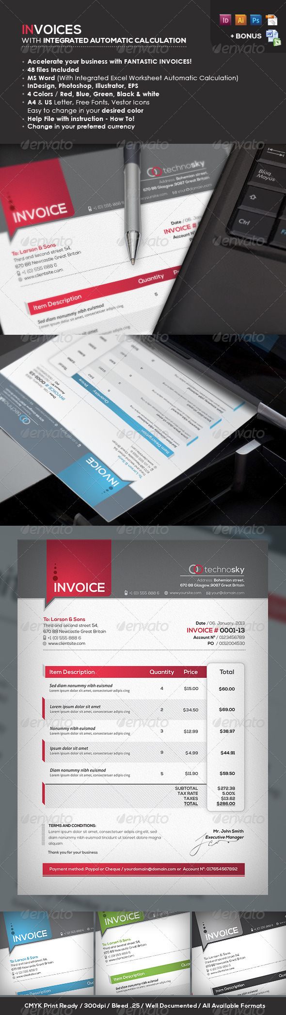 GraphicRiver Invoices Professional & Ready Templates 3569265