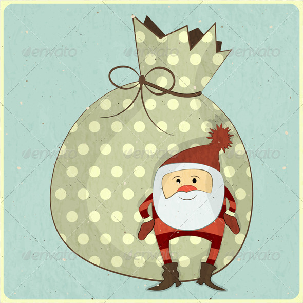 GraphicRiver Christmas Cards with Cartoon Santa 3637025