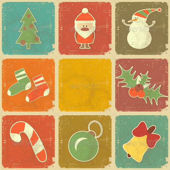 GraphicRiver Christmas Icons 3637043