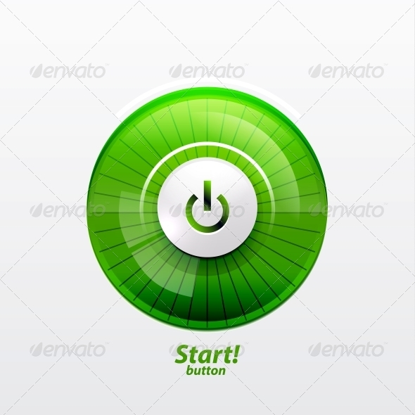 GraphicRiver Power Button with Empty Glass Screen 3637051