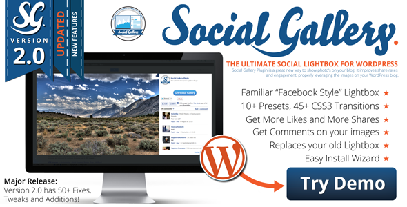 CodeCanyon Social Gallery WordPress Photo Viewer Plugin 2665332