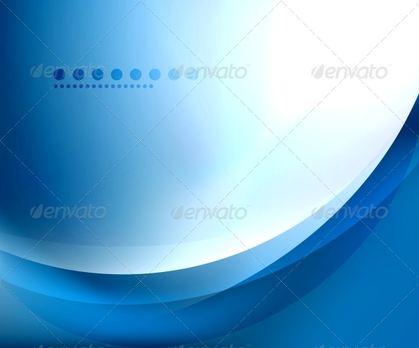 GraphicRiver Blue Smooth Wave Template 3637112