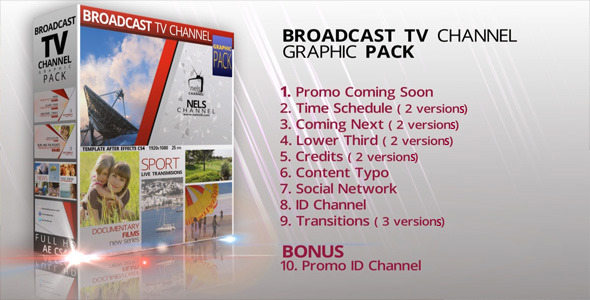 VideoHive Broadcast Graphic TV Channel Pack 3637232