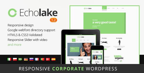 ThemeForest Echolake Premium Wordpress Theme 2975884