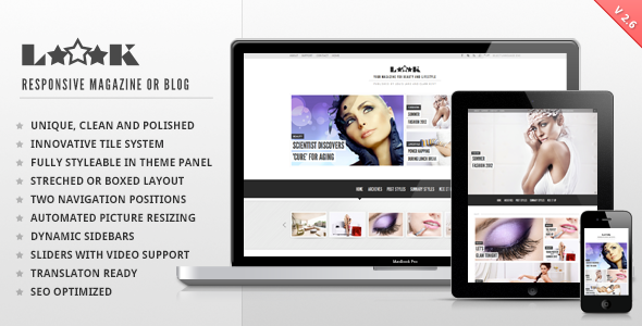 ThemeForest Loook Responsive Magazine or Blog 2178941
