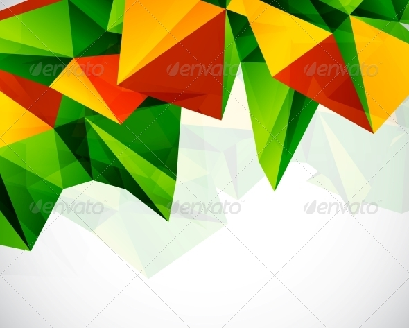 GraphicRiver Abstract Colorful Geometric Vector Background 3637976