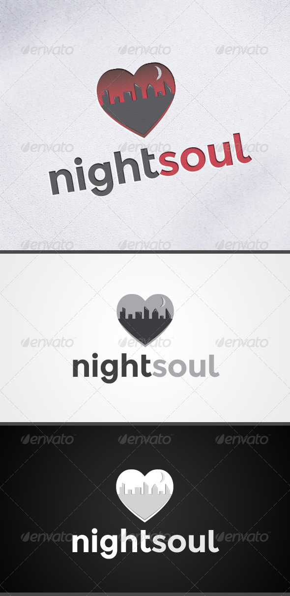 GraphicRiver Nightsoul Heart Logo 3638033