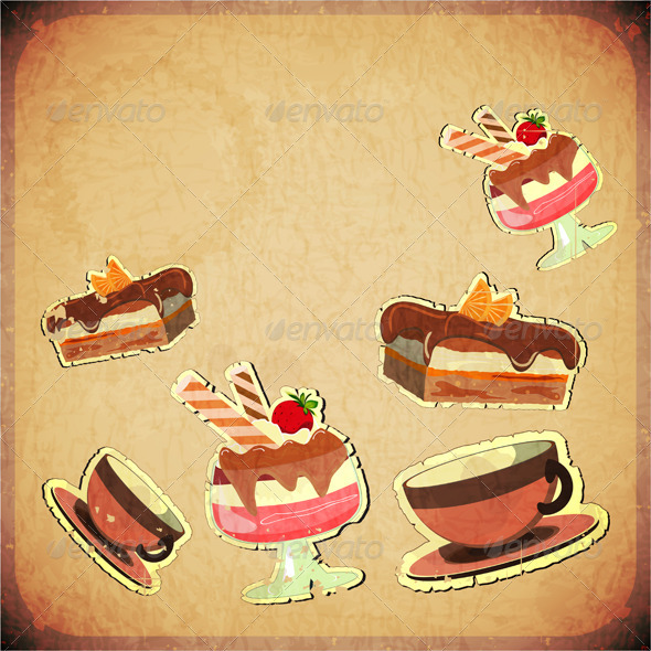 GraphicRiver Vintage Cover Cafe or Confectionery Dessert Menu 3638266