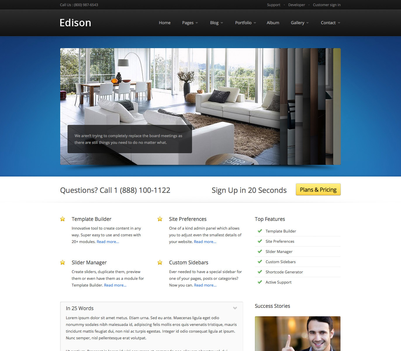 Edison - Business and Portfolio WordPress Theme