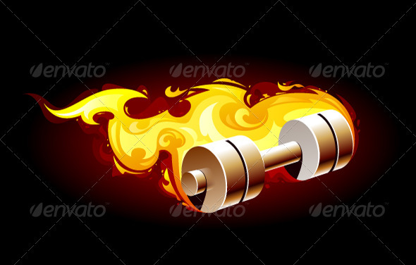 GraphicRiver Burning dumbell 3638615