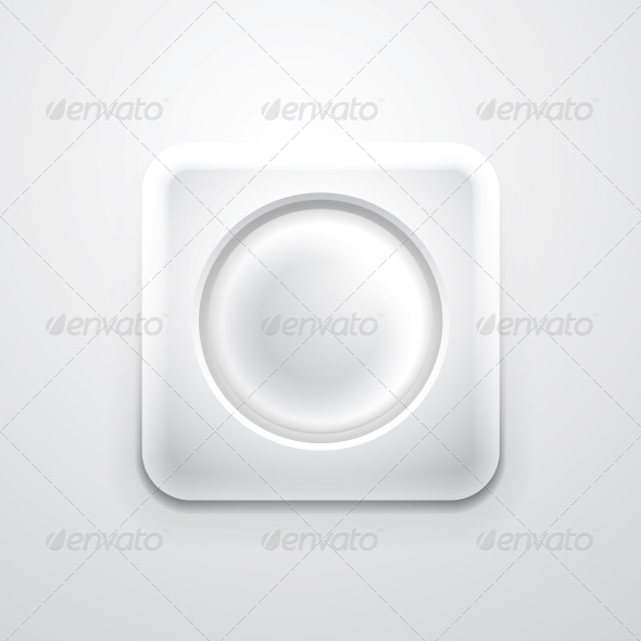 GraphicRiver White Mobile App Icon with Empty Circle 3638617
