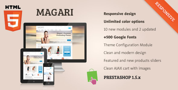 ThemeForest Magari Responsive Prestashop Theme 3542429
