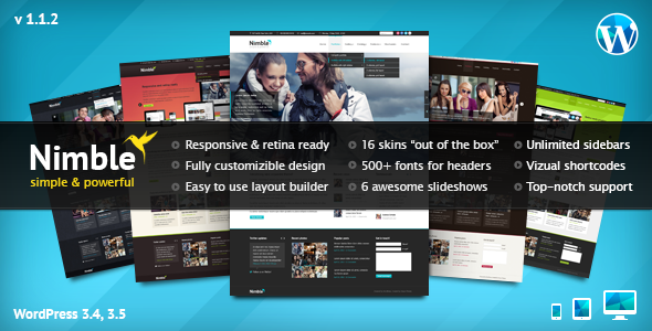 ThemeForest Nimble Multipurpose Retina Ready WordPress Theme 3009347