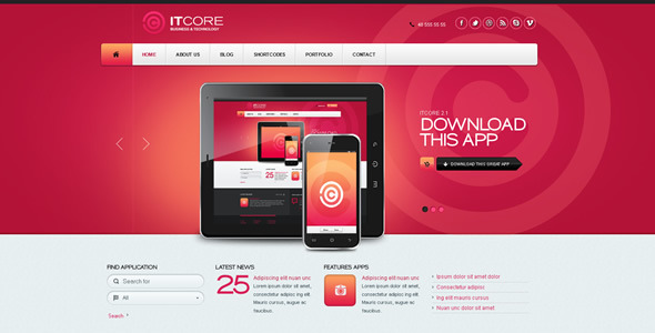 ItCore Site Template - Corporate Site Templates