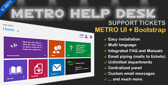 CodeCanyon Metro Help Desk Support Tickets 3281394