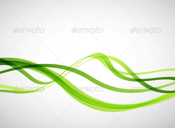 GraphicRiver Green Lines Abstract Vector Background 3638765