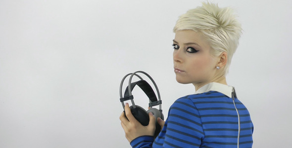 Woman Listening To Music 2