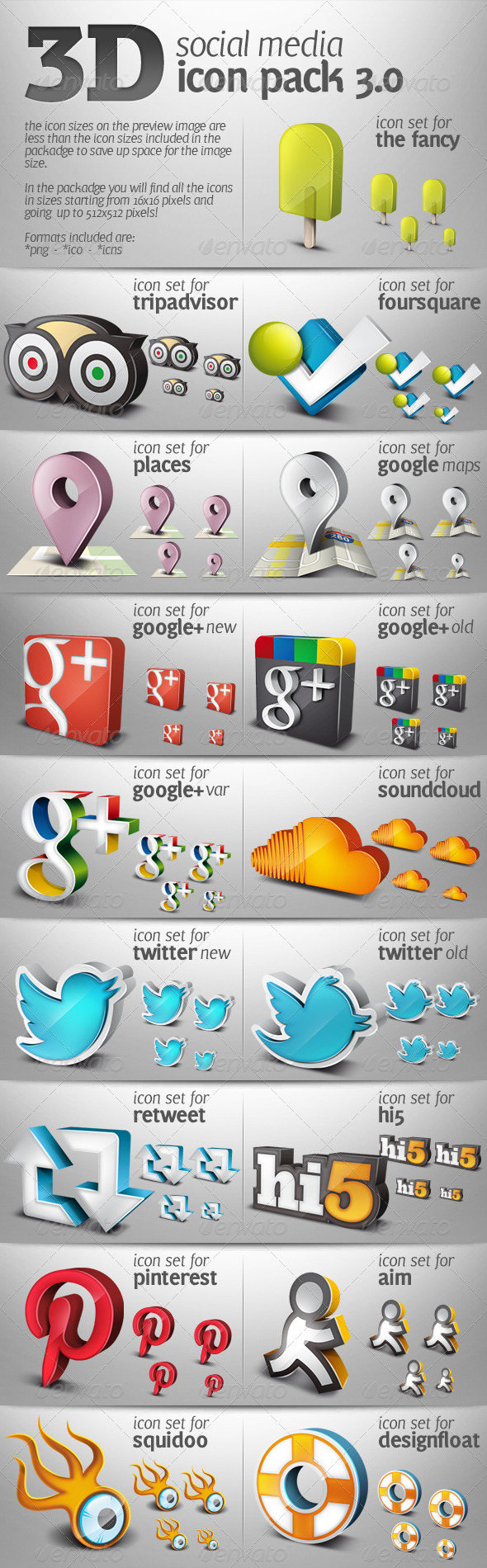 GraphicRiver 3D Social Media Icons Pack 03 3519044