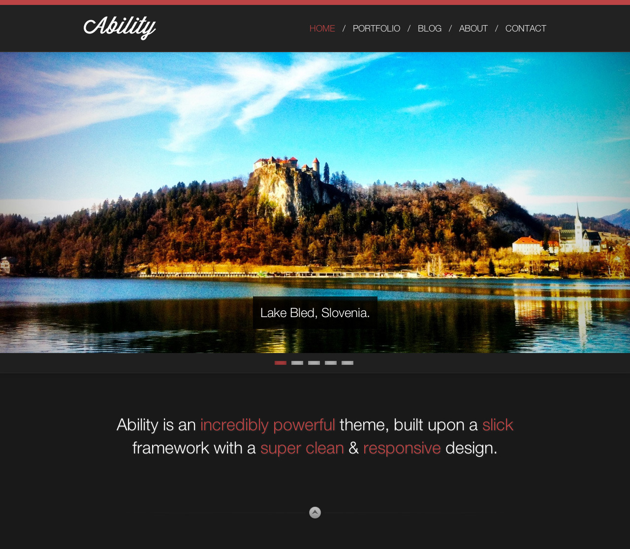 Ability - Responsive One Page Ajax WordPress Theme