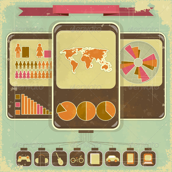 GraphicRiver Retro Infographic Design 3639432