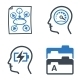 Productive at Work Icons - Blue Series - GraphicRiver Item for Sale