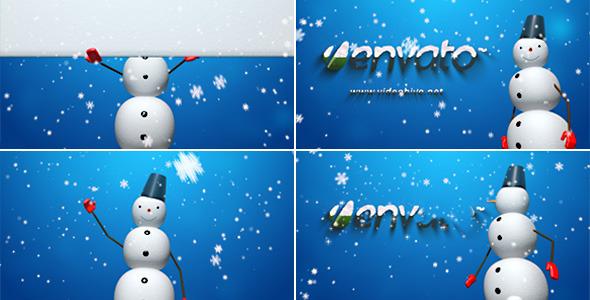 VideoHive Snowman Logo Reveal V2 3639657