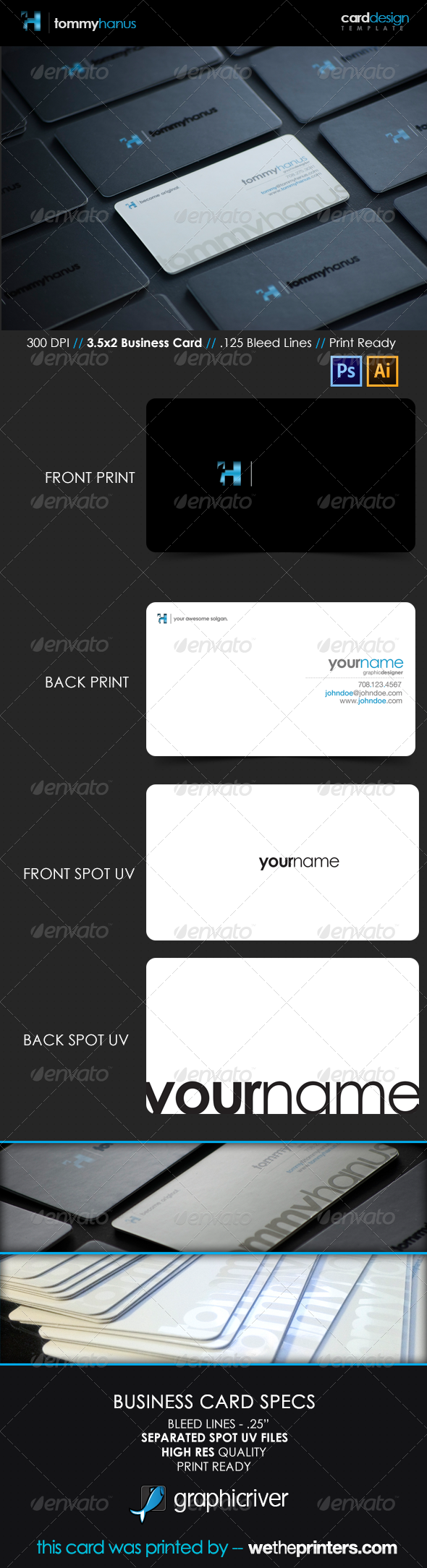 GraphicRiver Sleek Modern Business Card 3639690