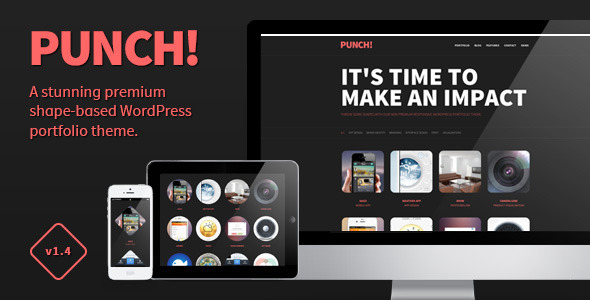ThemeForest Punch Responsive Portfolio WordPress Theme 3036959