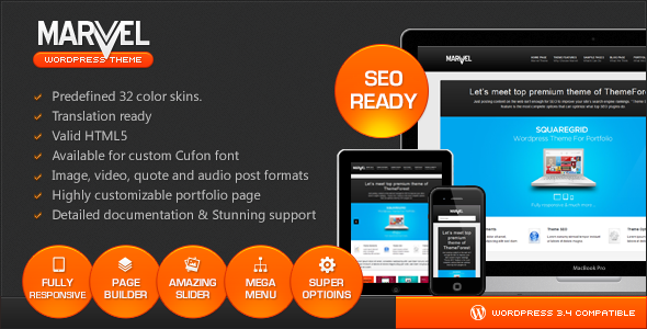 ThemeForest Marvel SEO Optimized Business Responsive theme 2559475