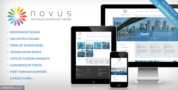 ThemeForest Novus Multipurpose Corporate Wordpress Theme 2927812