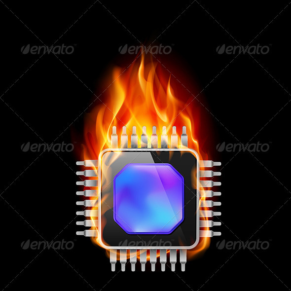 GraphicRiver Burning Processor 3640729