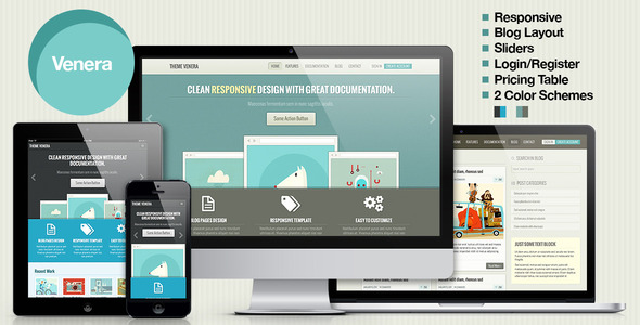 Venera - Responsive HTML Template - Retro colors - Business Corporate
