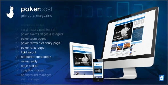 PokeRoost - Retina Ready Responsive Poker Theme