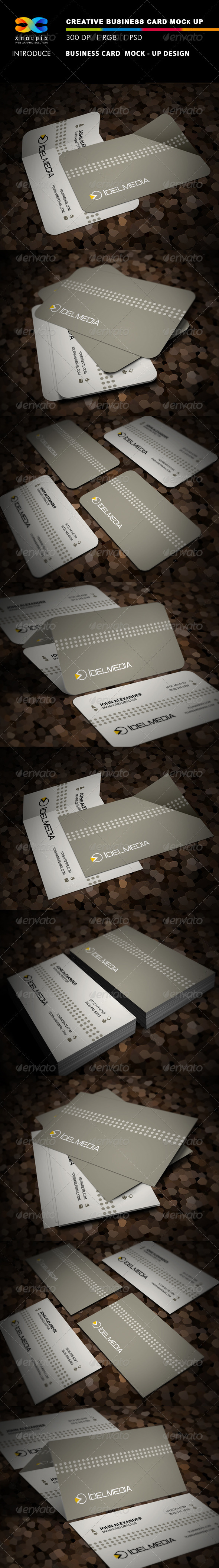 GraphicRiver Realistic Business Card Mock-up 3641063
