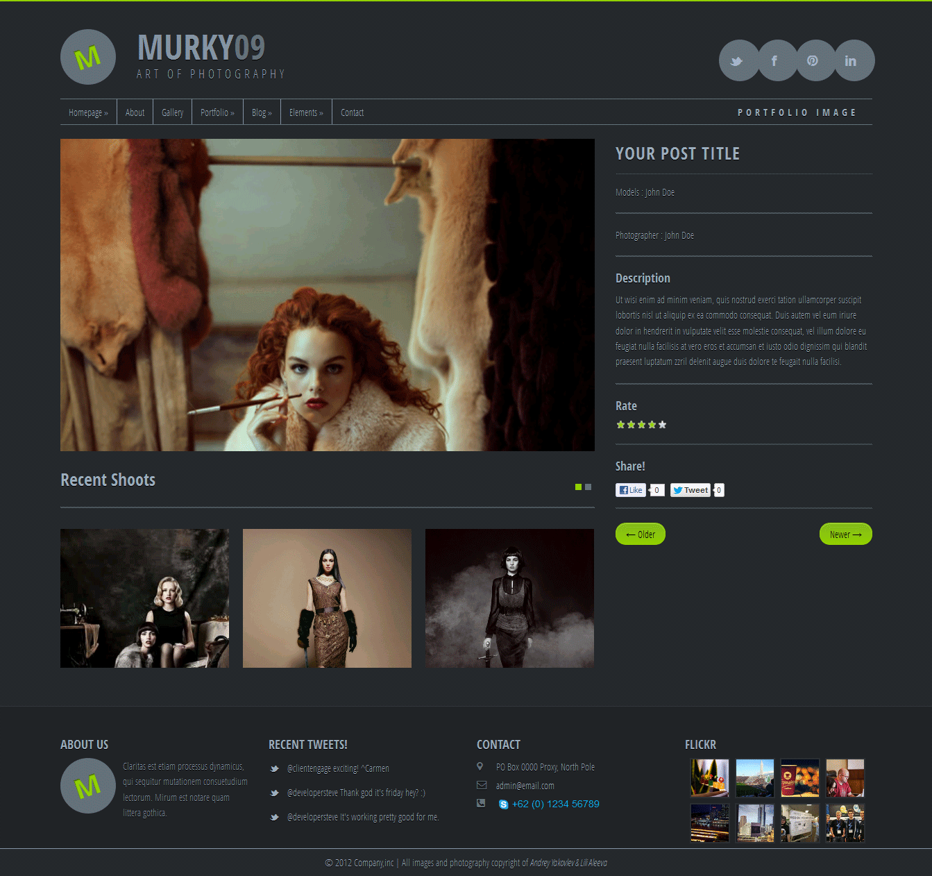 Murky09 - Portfolio and Photography Theme
