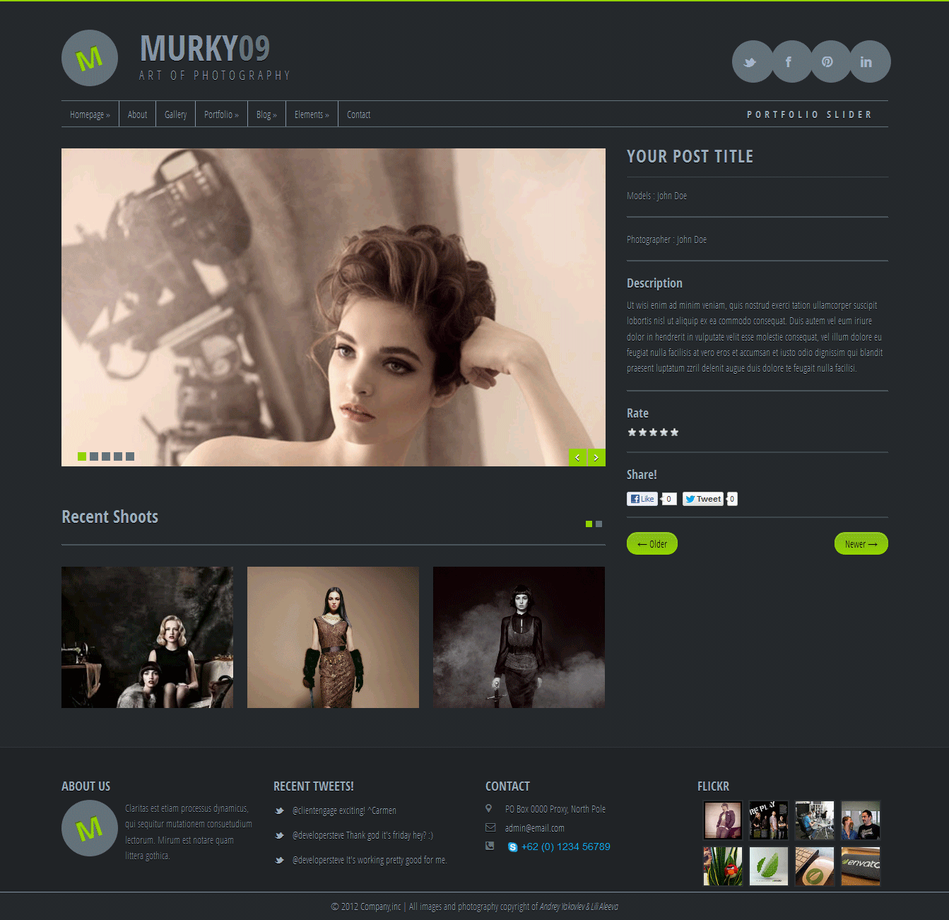 Murky09 - Portfolio and Photography Theme