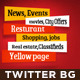 Twitter Background for News Website - GraphicRiver Item for Sale
