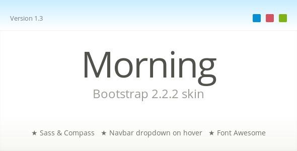 CodeCanyon Morning Bootstrap Skin 3384230