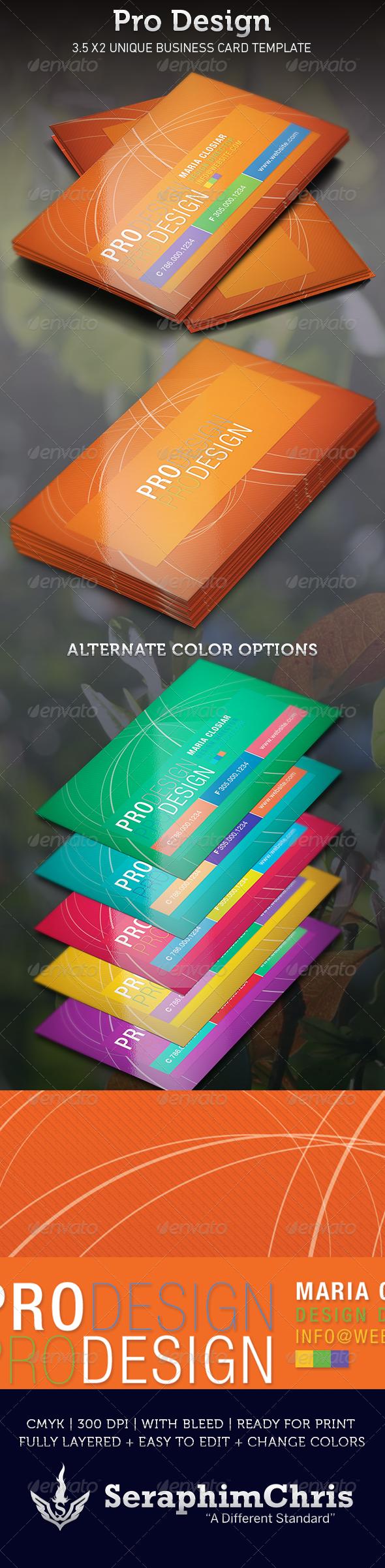 Pro Design Business Card Template  - Creative Business Cards
