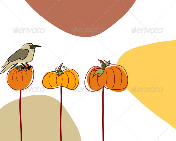 GraphicRiver Autumn Greeting Doodle Card 3641659