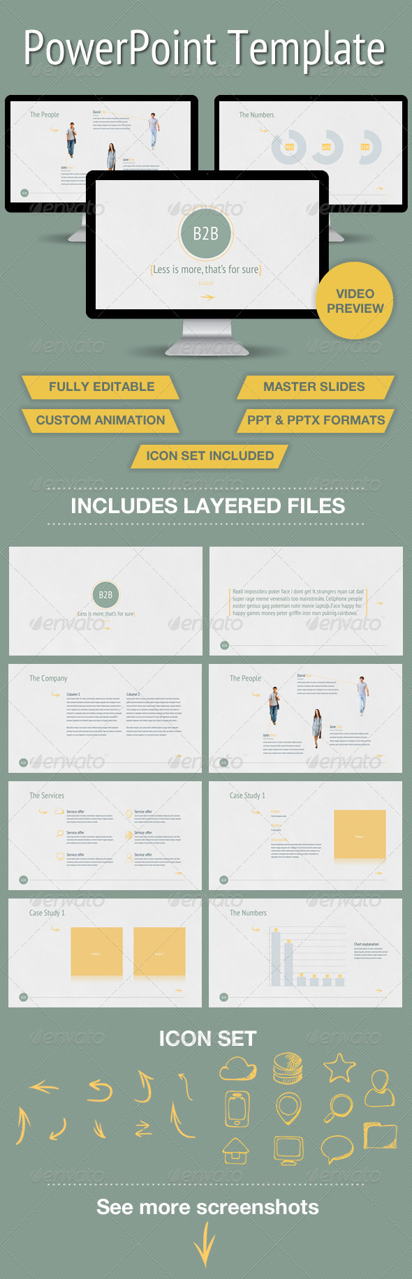 GraphicRiver Business to Business Powerpoint Presentation 3641936